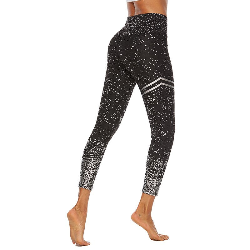 Women High Waist Fitness Yoga Leggings Pants - Nikkiaz