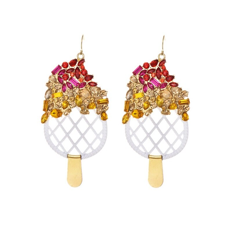 Ice Cream Handmade Rice Beads Stud Earrings For Women - Nikkiaz