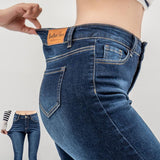 High Waist Slim Straight Jean - Nikkiaz