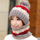 Winter Women's Velvet Wool Hats Sets