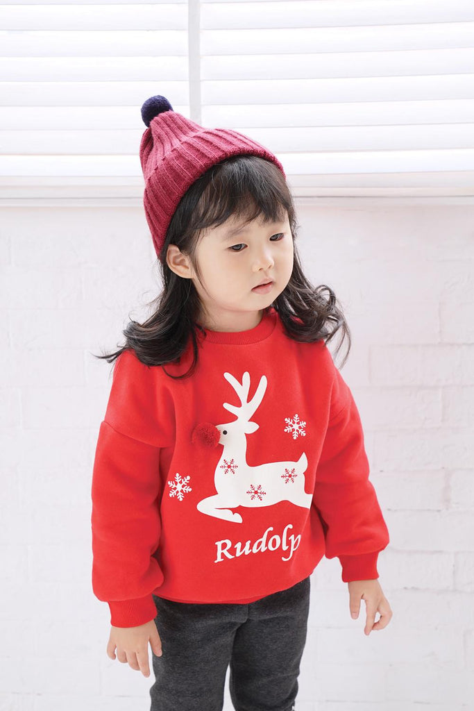 Christmas Family Matching Clothes Winter Fleece Family Look Sweatshirt - Nikkiaz