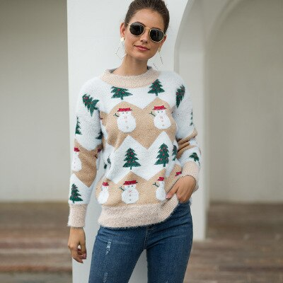 Ugly Christmas Sweater Pullover Knitwear - Nikkiaz