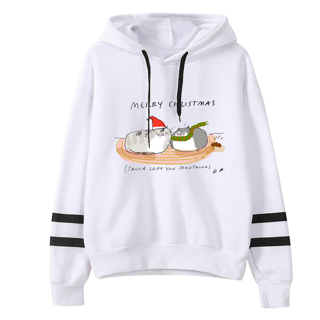 Christmas Hoodies Women Sweatshirt Autumn Winter 2019 Fashion Streetwear - Nikkiaz