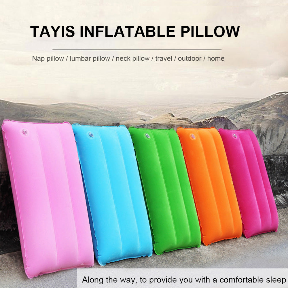 Tayis Ultralight Portable Square Air Inflatable Outdoor Travel Soft Pillow Airplane Pillow Travel Pillow Family Furniture for Couples