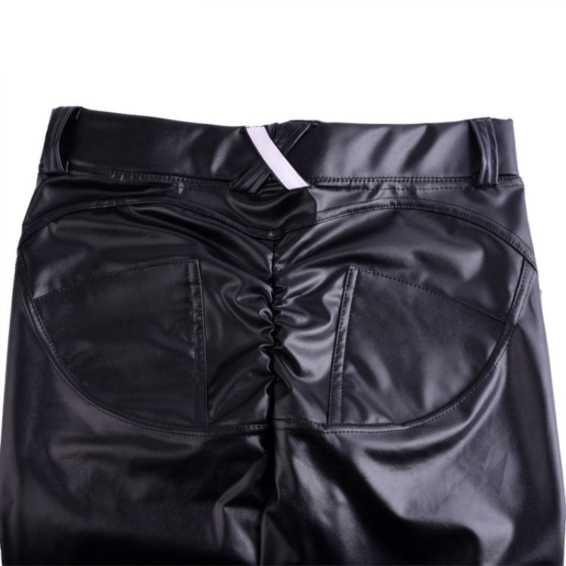 Plus Size Leather Leggings - Nikkiaz