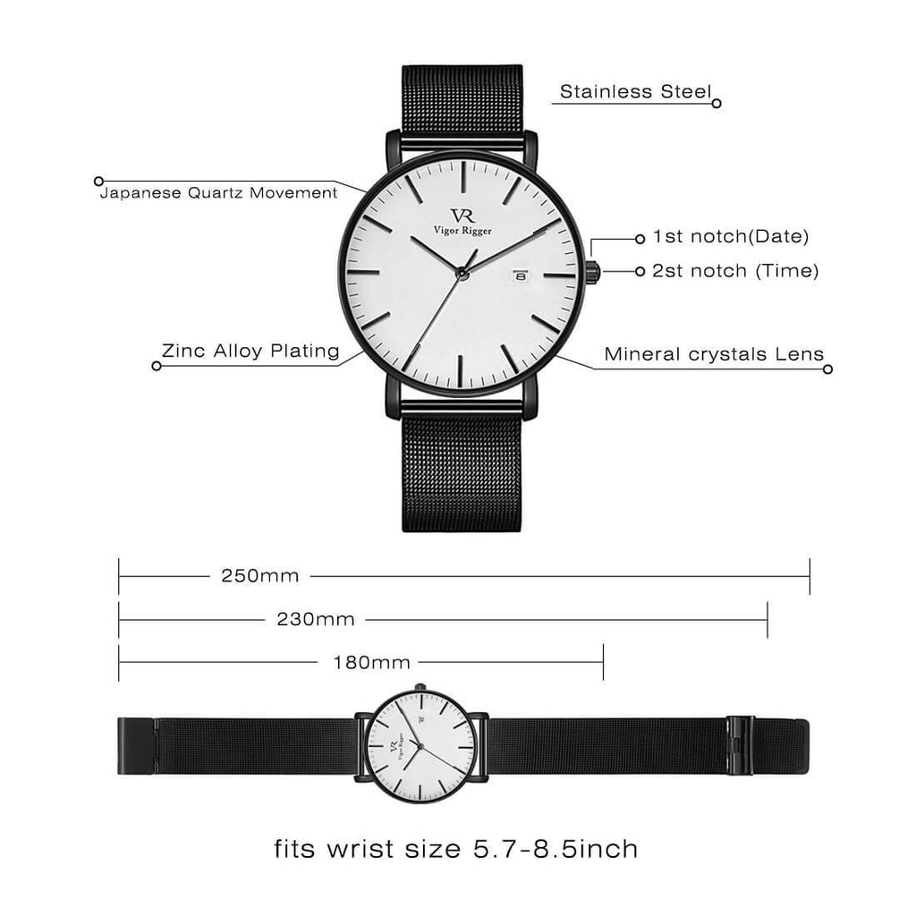 Simple Casual Stainless Quartz Watch