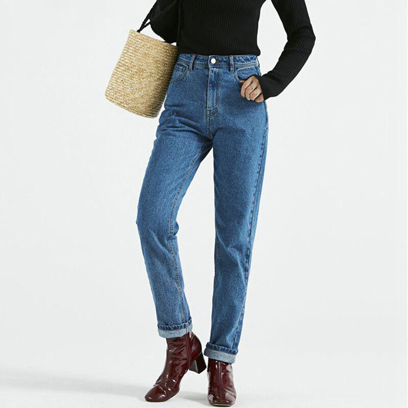 Casual Denim Boyfriend Jean - Nikkiaz