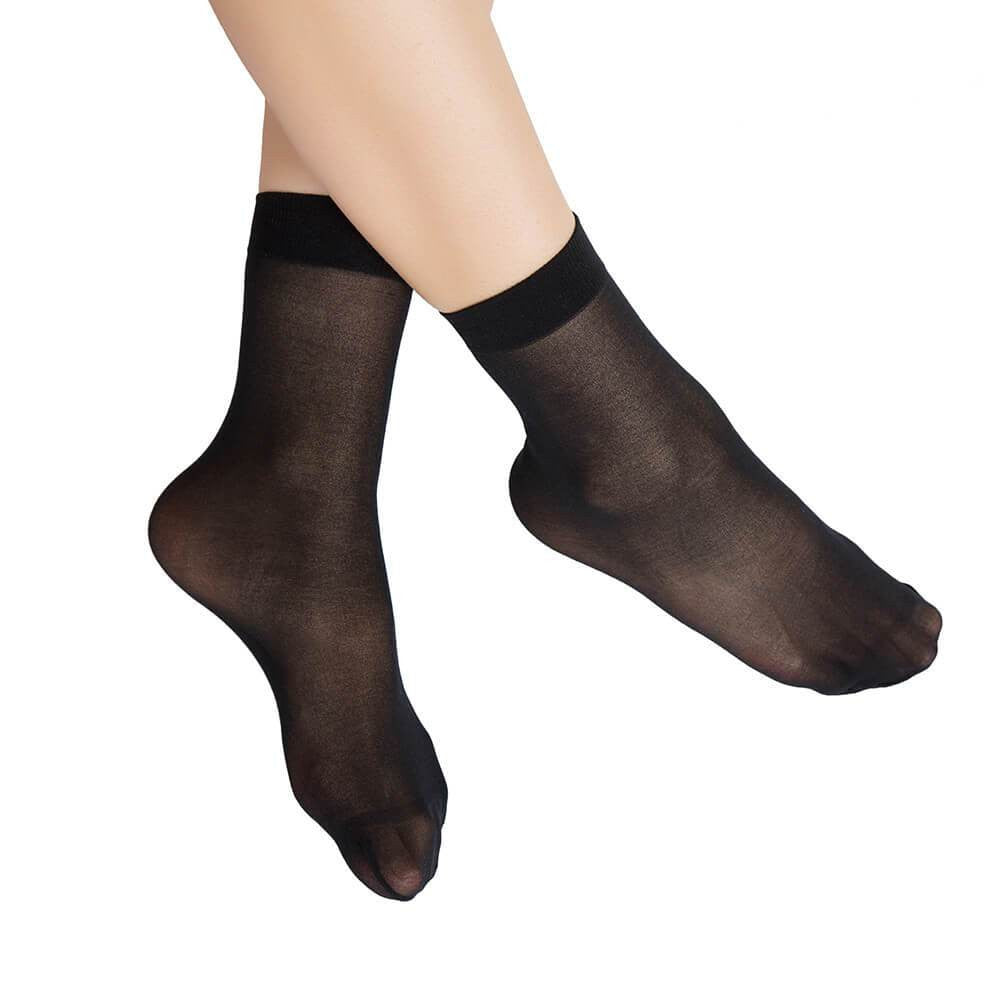 Nylon Ankle High Sheer Hosiery Socks 12 Pairs - Nikkiaz