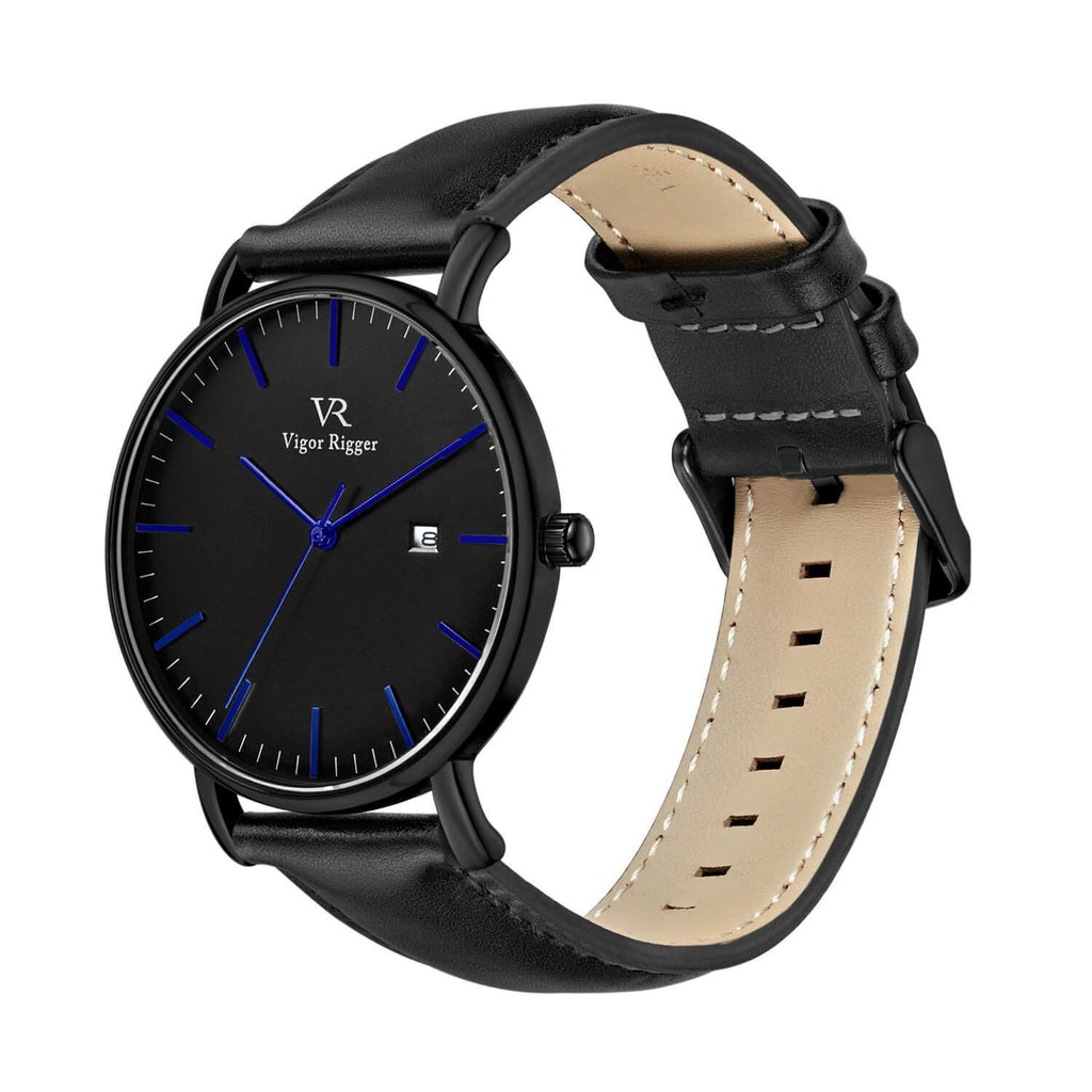 Slim Leather Quartz Waterproof Watch - Nikkiaz