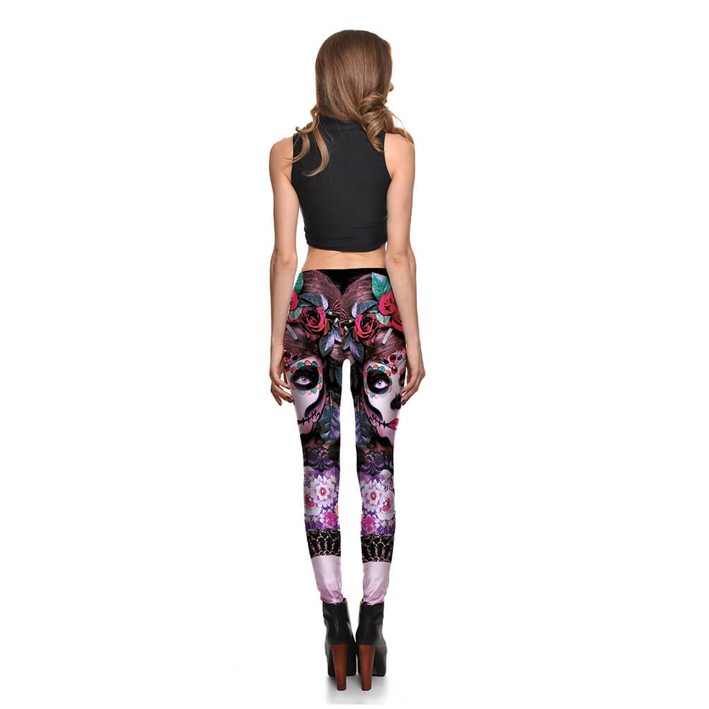Halloween Women's Leggings Ankle Pants - Nikkiaz