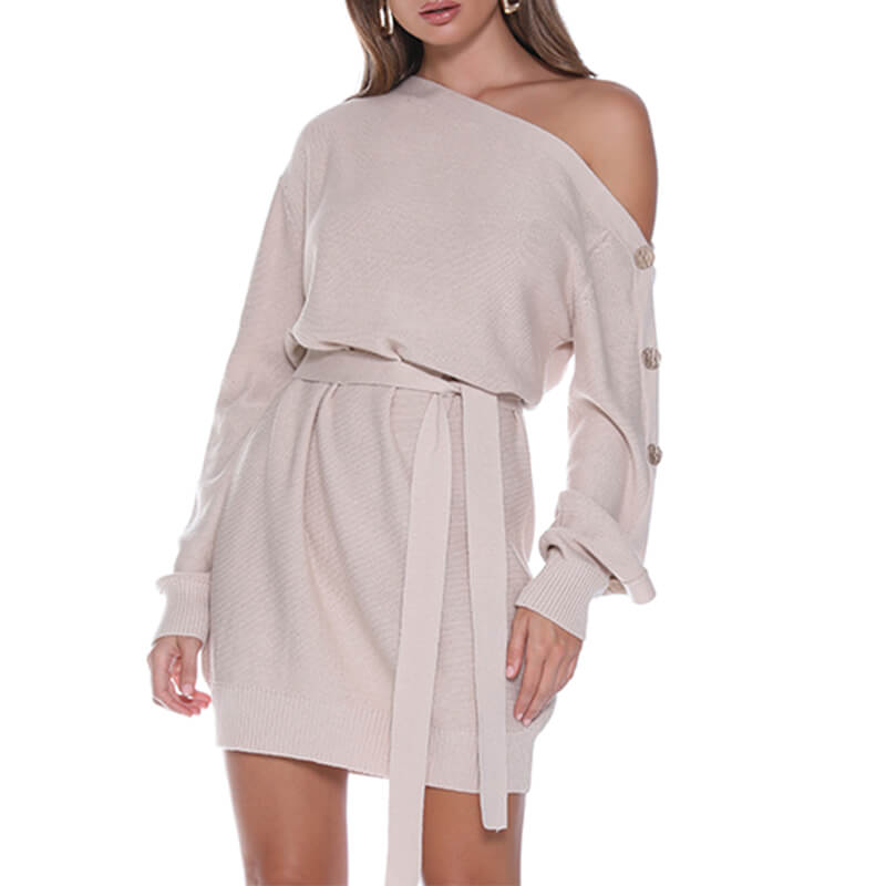 Pullovers Long Sweater Dress - Nikkiaz