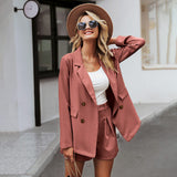 Elegant two-pieces women short suit - Nikkiaz