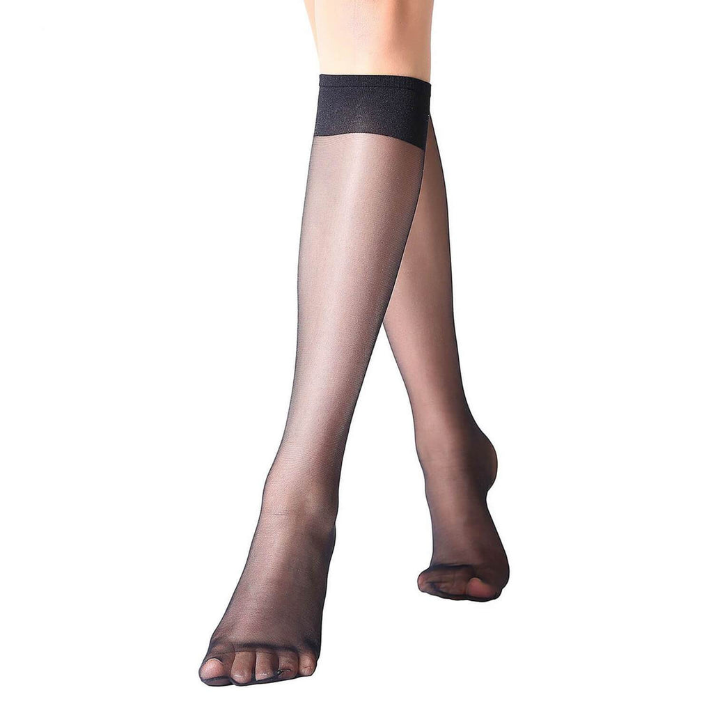 Sheer Knee High Stockings 12 Pairs - Nikkiaz