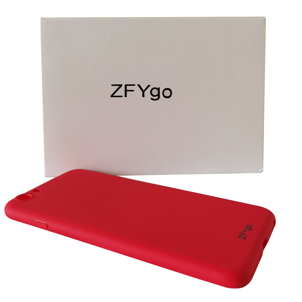 ZFYgo Silicone Case Compatible with iPhone 6S Plus Case 5.5 inch, Liquid Silicone Flexible Rubber Phone Case for iPhone 6S Plus, Red