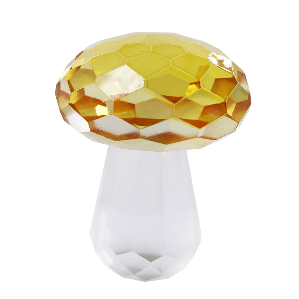 Anna Lotus Crystal Collection Mushroom Figurines Crystal Sculpture Prism Paperweight Desk Decoration Ornaments