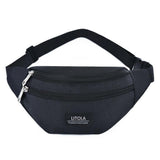 LITOLA Fashion Oxford cloth waist bag Men's and women's universal fanny pack sports travel outdoor solid color chest bag heuptas