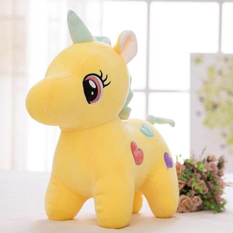 Tilion 20CM Soft Unicorn Heart Plush Toy Baby Kids Appease Rainbow Sleeping Pillow Doll Animal Stuffed Toy Birthday Gifts for Girls