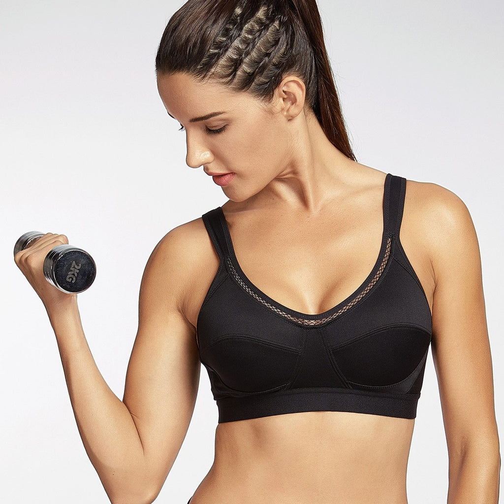 Women Classic High Support  Fitness Sports Bra