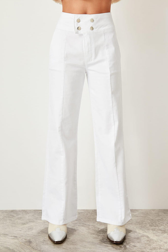 Super High Waist Wide Leg Jeans - Nikkiaz