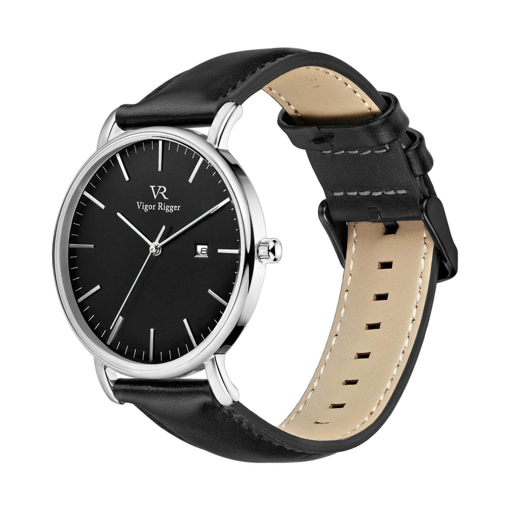 Ultra-thin Leather Causal Quartz  Watch - Nikkiaz