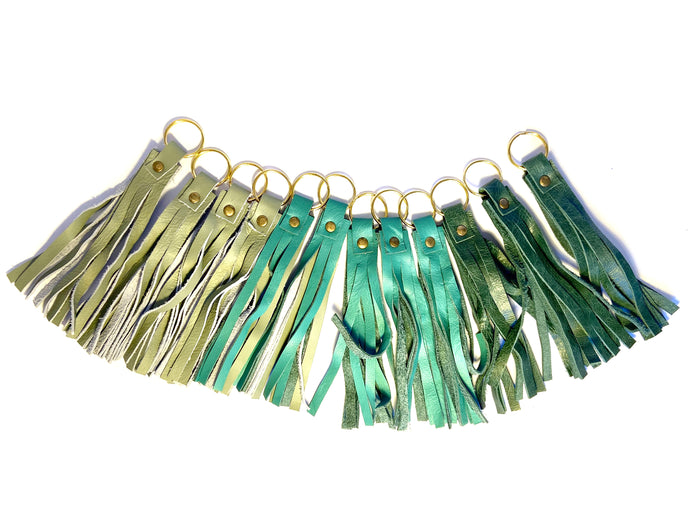Green Tassel Keyrings