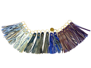 Blue & Purple Tassel Keyrings