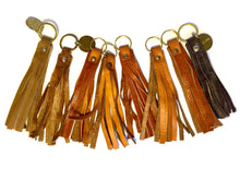 Load image into Gallery viewer, Brown & Tan Coloured Tassel Keyrings