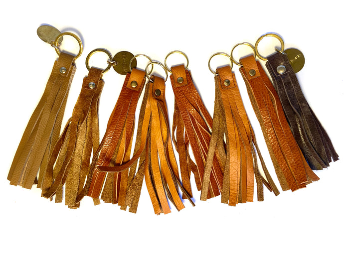 Brown & Tan Coloured Tassel Keyrings