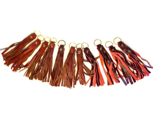 Red Coloured Tassels Keyrings