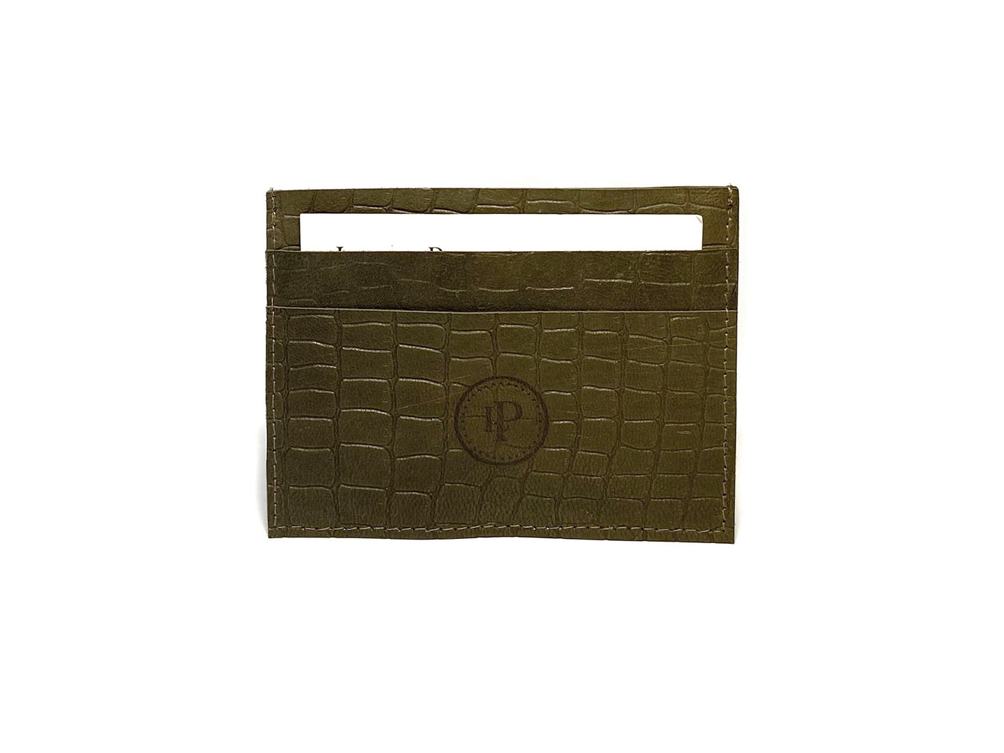Green Snake Card Case 3 Slots