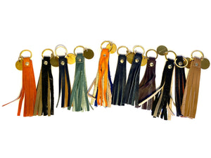 Multi Coloured Tassel Keyrings