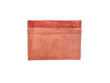 Load image into Gallery viewer, Red Suede Card Case 5 Slots