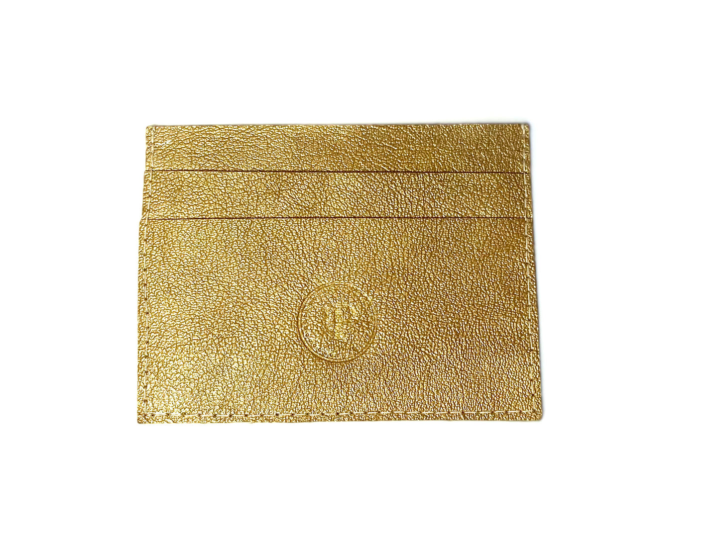 Gold Patent Card Case 3 Slots