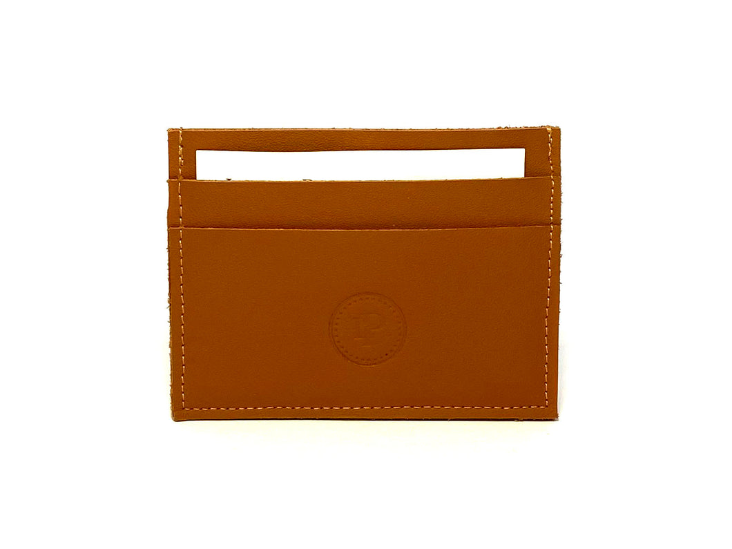 Brown Tan Card Case 5 Slots