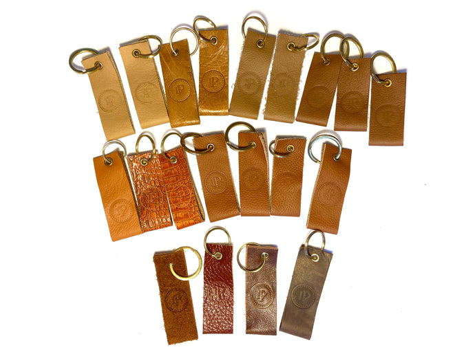 Brown & Tan Multi Logo Keyrings