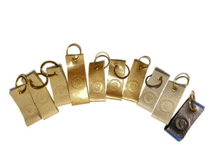 Gold & Grey Multi Logo Keyrings