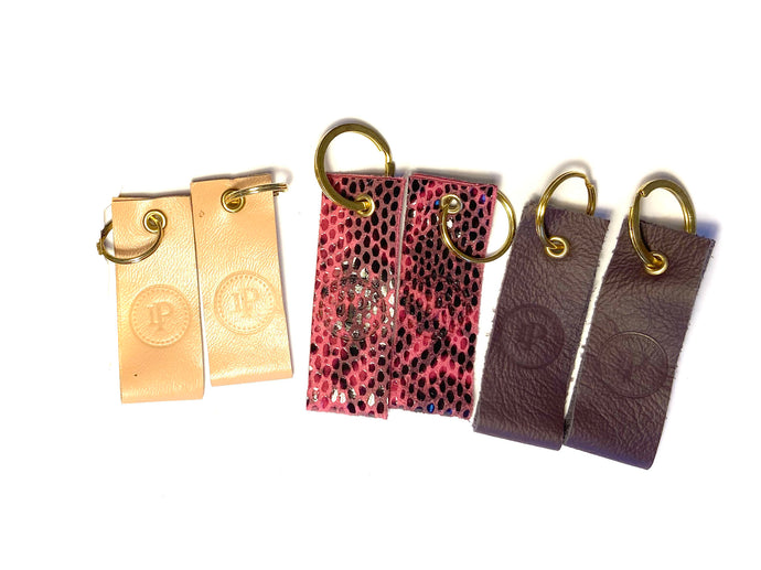 Pink & Purple Multi Logo Keyrings