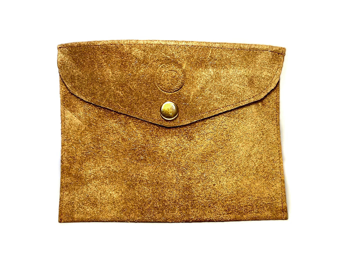 Suede Tan Pouch