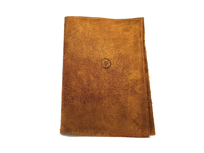 Brown Tan Suede Notepad A5