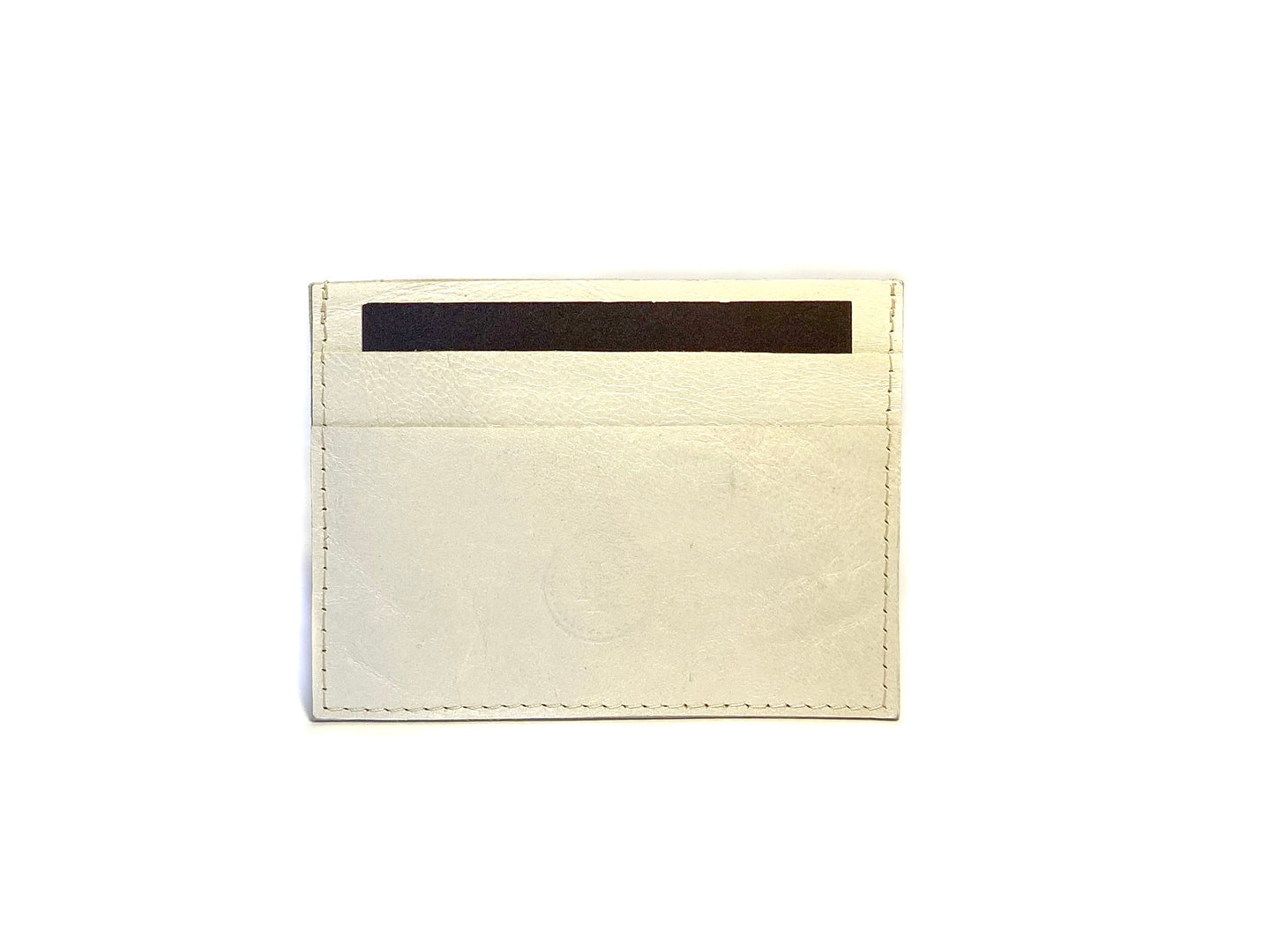 White Shimmer Card Case 3 Slots