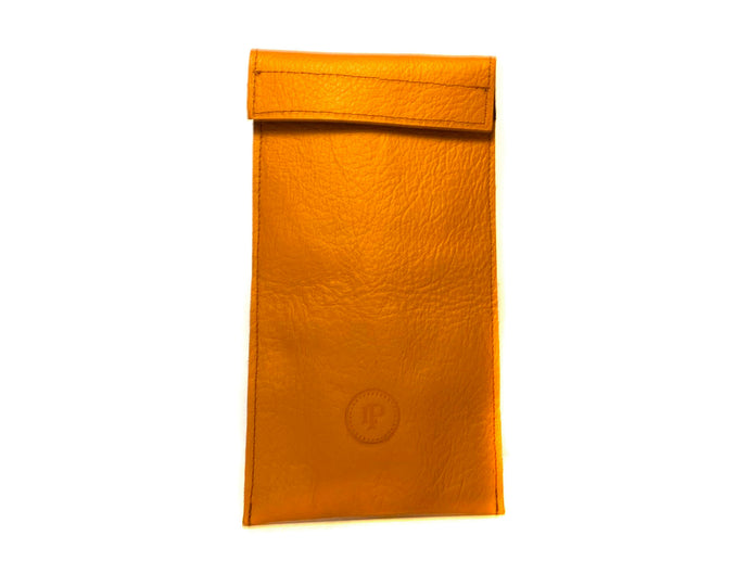 Brown Orange Sunglasses Case Wide