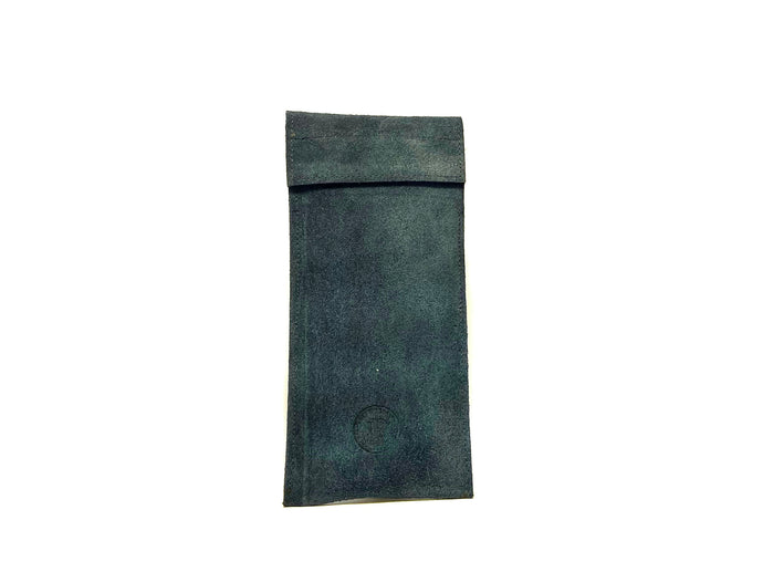Blue Suede Sunglasses Case