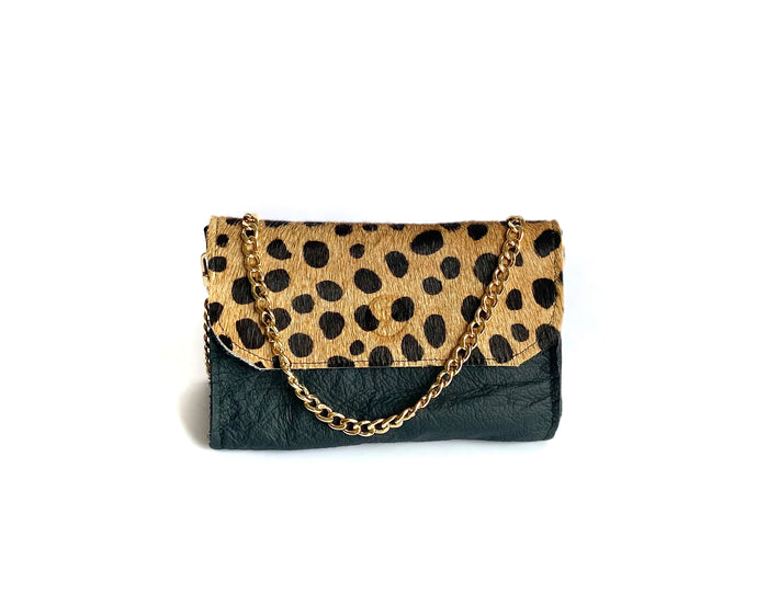 Black Spotted Mini Bag