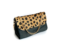 Load image into Gallery viewer, Black Spotted Mini Bag
