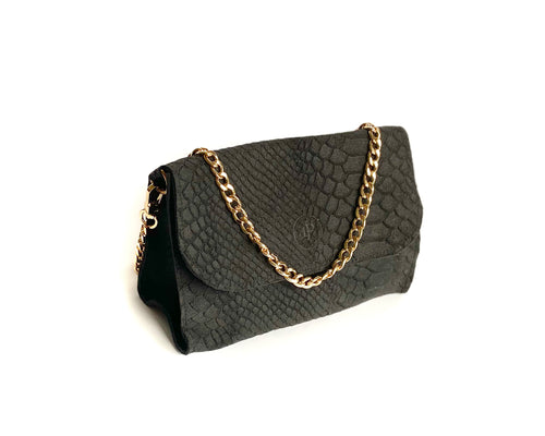 Grey Snake Mini Bag
