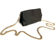 Load image into Gallery viewer, Grey Snake Mini Bag
