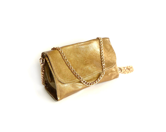 Gold Patent Mini Bag