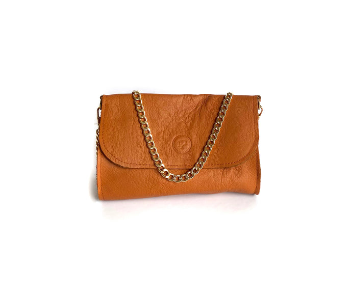 Brown Orange Mini Bag