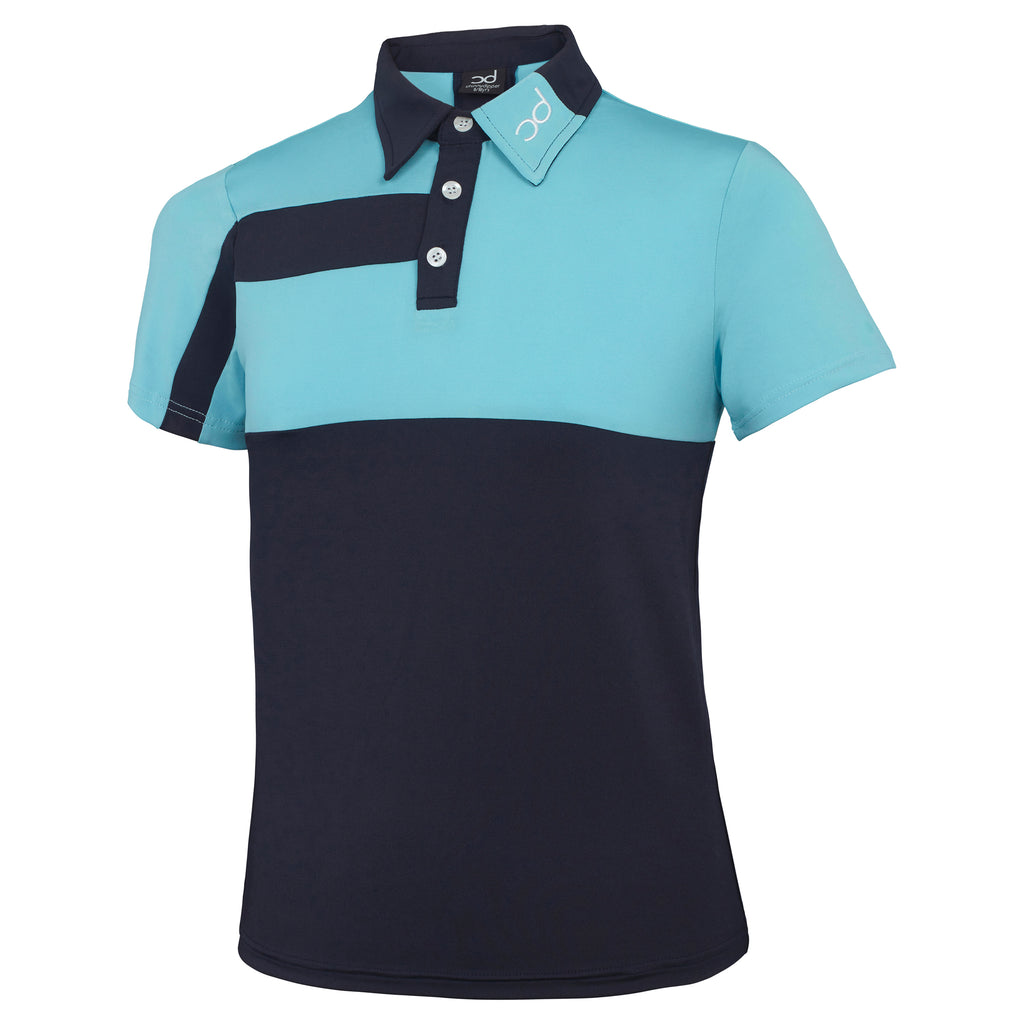 LOUIS Men's Polo - Navy/Light Blue