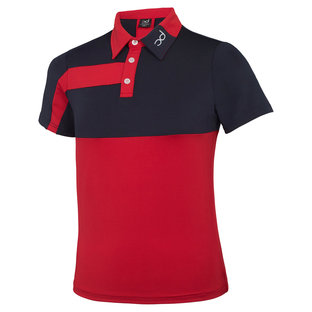 LOUIS Men's Polo - Red/Navy